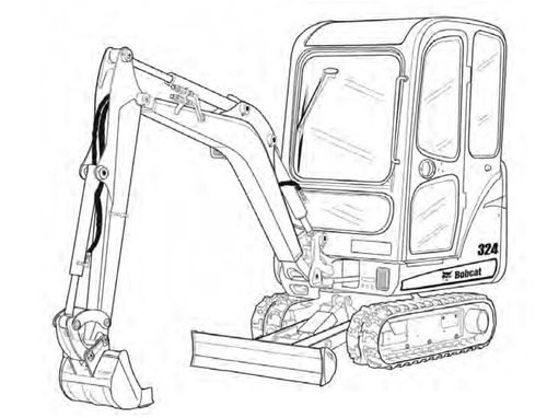Bobcat 324 Compact Excavator Service Repair Manual