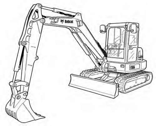 Bobcat E55 Compact Excavator Service Repair Manual