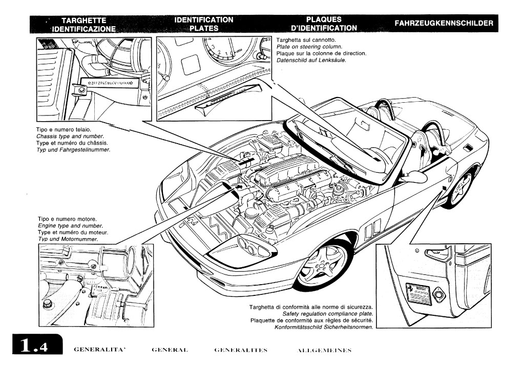 Ferrari 550 Barchetta Owners Manual US 2001