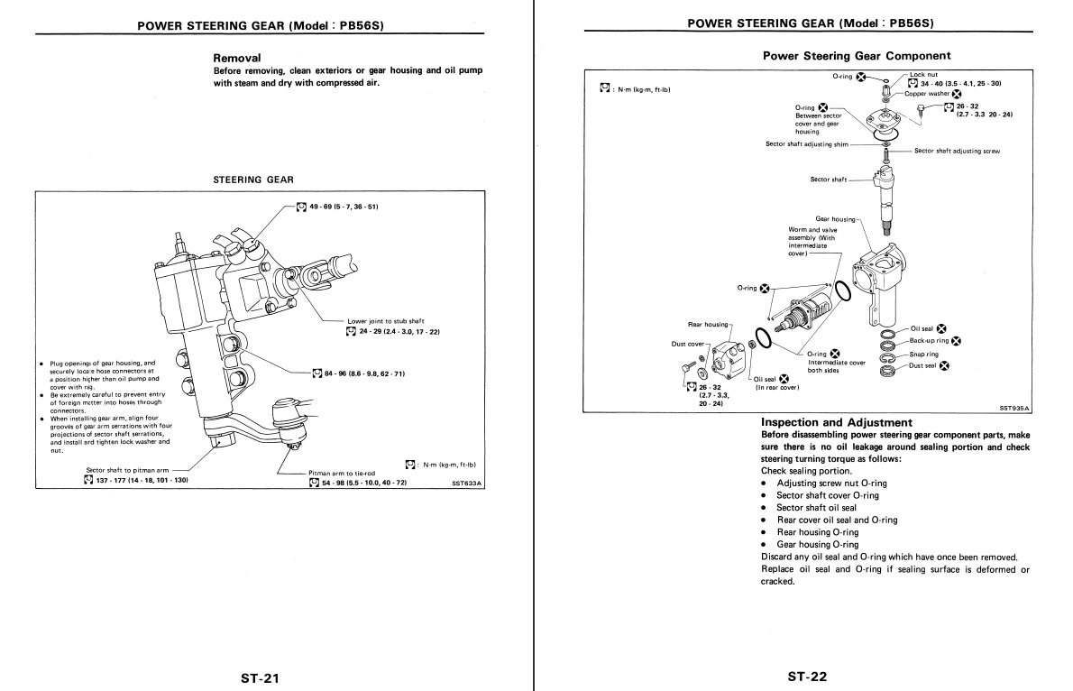 Nissan D21 Truck-Pathfinder Service-Repair manual 1989