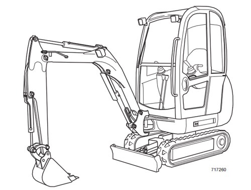 JCB 801 Tracked Excavator Service Repair Manual Download