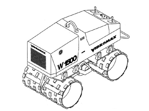 Vibromax W1500 Trench Roller Service Repair Manual
