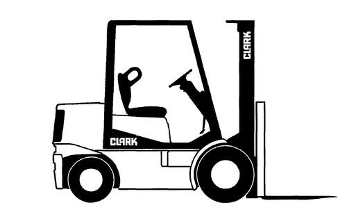 Clark SM-604 EC500 6O/80 Series Forklift Service Repair