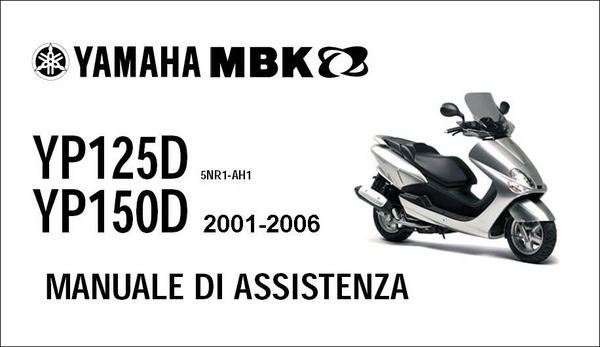 Yamaha Majesty Mbk Skyliner 125 150 Manuale Officina 01-06