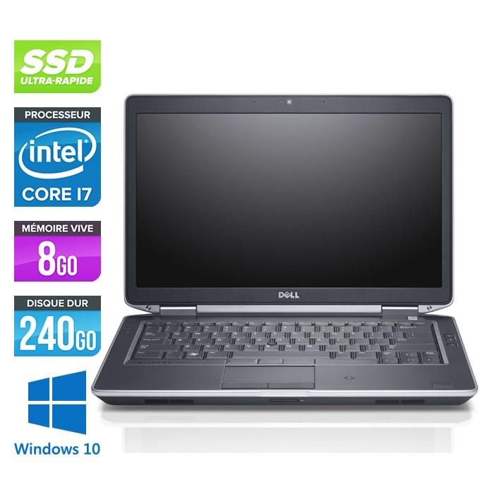 Pc portable occasion Dell Latitude E6430S - Core i7 - 8Go - 240Go SSD - Windows 10 - Trade Discount.