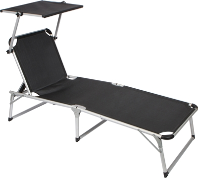 beach chairs with shade sears high baby games adjustable and patio lounge chair sun by trademark innovations black
