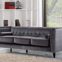 Gray Velvet Slipcover Sofa Best Comfortable Sectional Living Room Design Trends Home Remodeling Contractor
