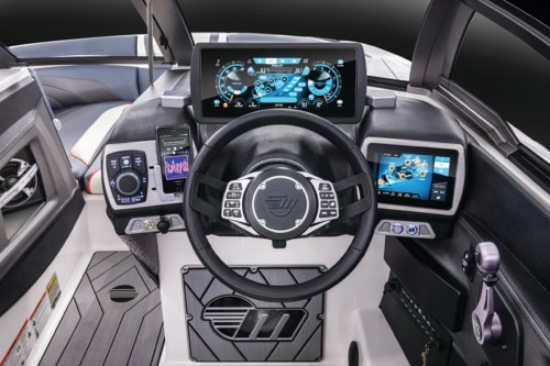 small resolution of the axis t22 command center helm puts control of everything from the ballast system to the
