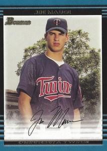 2002 Bowman Joe Mauer RC