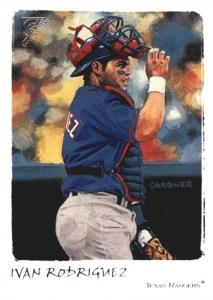 2002 Topps Gallery Baseball Variations 71 Ivan Rodriguez