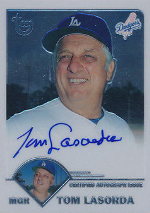 2002 Topps Retired Signature Edition Autographs Tommy Lasorda Short Print