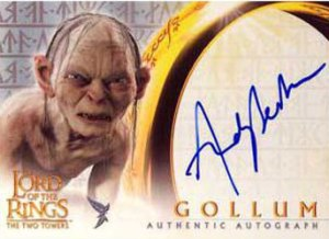 2003 Topps Lord of the Rings The Two Towers Update Autographs Andy Serkis as Gollum