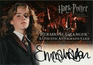 2004 Artbox Harry Potter and the Prisoner of Azkaban Autographs Emma Watson as Hermione Granger