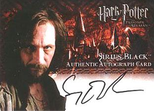 2004 Artbox Harry Potter and the Prisoner of Azkaban Autographs Gary Oldman as Sirus Black