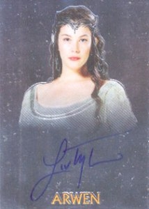 2004 Topps Lord of the Rings Trilogy Chrome Autographs Liv Tyler as Arwen
