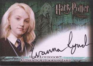 2007 Artbox Harry Potter and the Order of the Phoenix Autographs Evanna Lynch as Luna Lovegood