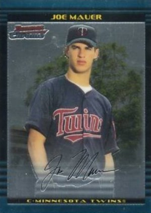 2002 Bowman Chrome Facsimile Autograph Variation Joe Mauer