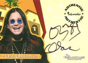 2002 Inkworks The Osbournes Autographs Ozzy Osbourne
