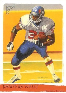 2002 Topps Gallery Football Variations 183 Jonathan Wells