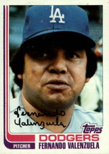 1982 Topps Fernando Valenzuela