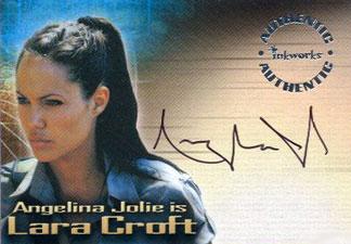 2003 Inkworks Tomb Raider Cradle of Life Autographs A1 Angelina Jolie as Lara Croft