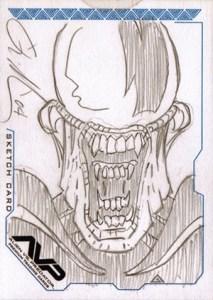2004 Inkworks Alien vs Predator Sketch Card William ONeill