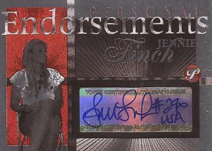 2004 Topps Pristine Personal Endorsements Jennie Finch Autograph