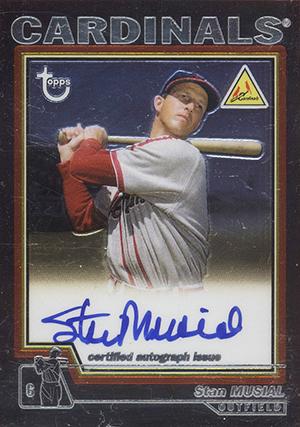 2004 Topps Retired Baseball Stan Musial Autograph