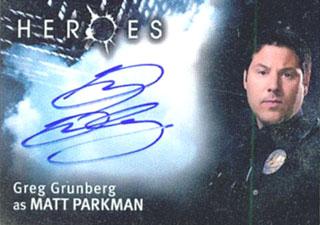 2007 Topps Heroes SDCC Autographs Greg Grunberg as Matt Parkman