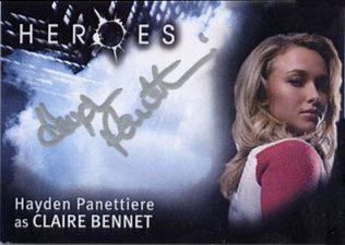 2007 Topps Heroes SDCC Autographs Hayden Panettiere as Claire Bennet