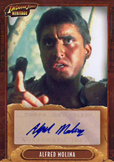 2008 Topps Indiana Jones Heritage Autographs Alfred Molina as Satipo