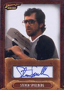 2008 Topps Indiana Jones Heritage Autographs Steven Spielberg - Director
