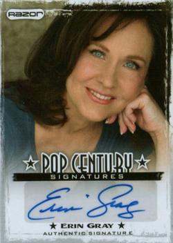2010 Razor Pop Century Signatures AU-EG1 Erin Gray
