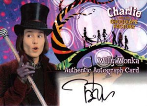 2005 Artbox Charlie and the Chocolate Factory Autographs Johnny Depp as Willy Wonka
