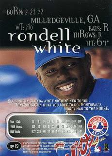 1999 Skybox Thunder Rondell White (Back)