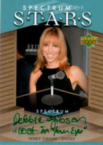 2007 Upper Deck Spectrum Baseball Spectrum of Stars Signatures Debbie Gibson Lost in Your Eyes