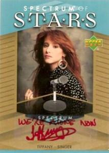 2007 Upper Deck Spectrum Baseball Spectrum of Stars Signatures Tiffany We're Alone Now
