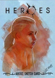 2008 Topps Heroes Volume 2 Sketch Card