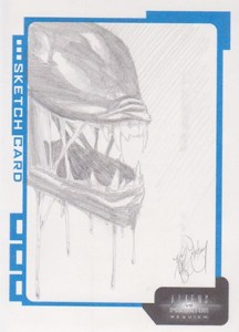 2007 Inkworks Aliens vs Predator Requiem Sketch Card