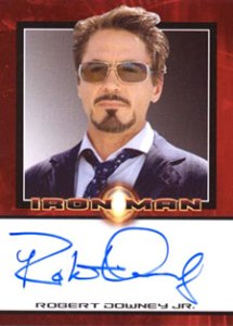 2008 Rittenhouse Iron Man Autographs Robert Downey Jr. as Tony Stark