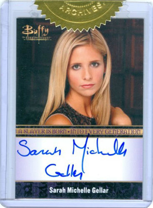 2015 Rittenhouse Buffy the Vampire Slayer Ultimate Collectors Set Sarah Michelle Gellar Autograph Bordered