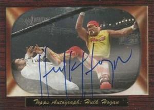 2005 Topps WWE Heritage Hulk Hogan Autograph