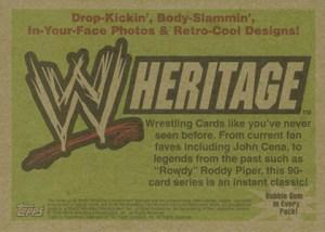2005 Topps WWE Heritage Promo John Cena Reverse