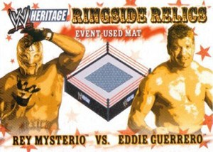 2005 Topps WWE Heritage Ringside Relics Rey Mysterio Eddie Guerrero
