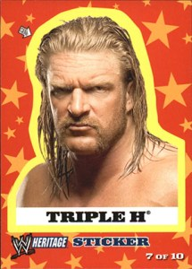 2005 Topps WWE Heritage Stickers