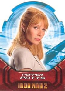 2010 Upper Deck Iron Man 2 Actors Die-Cuts