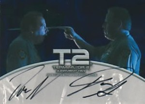T2 FilmCardz Autographs Don and Dan Stanton as Lewis the Security Guard and T1000