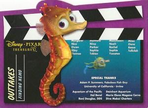 2004 Upper Deck Disney Pixar Treasures Outtakes