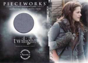2008 Inkworks Twilight Pieceworks PW-1 Kristen Stewart as Bella