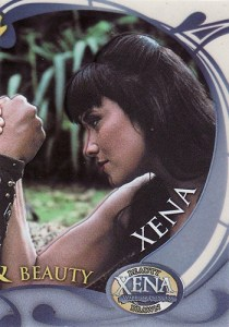 2002 Xena Beauty and Brawn Cel Card
